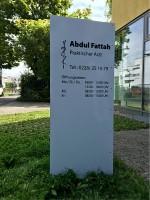 Abdul Fattah Beschriftung
