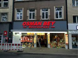 Osman Bey Restaurant Außenwerbung