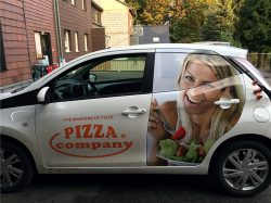 Pizza Company Autobeschriftung