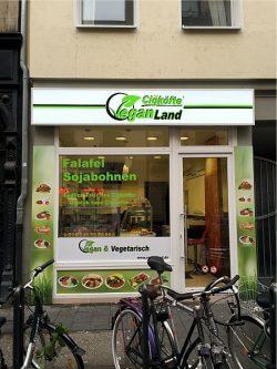 Vegan Land Außenwerbung 6